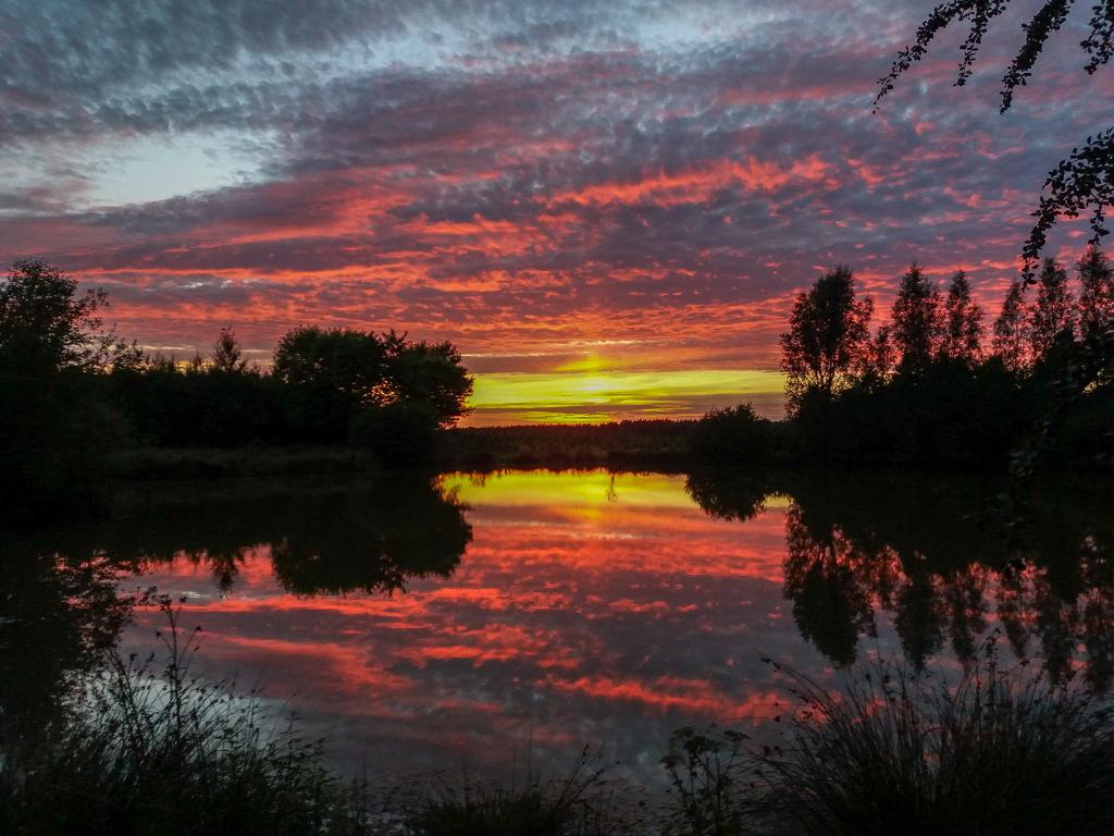 coucher de soleil sur l'etang 1-212212